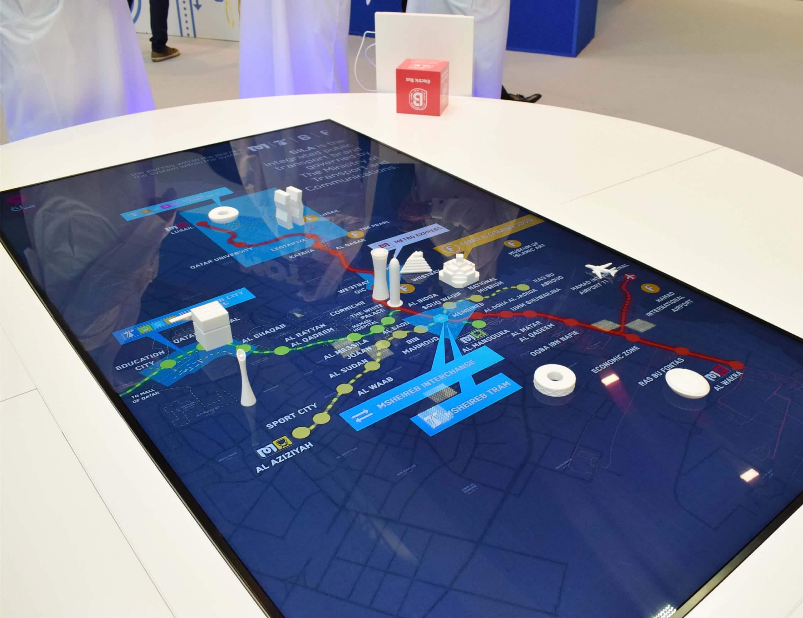 Public Transportation Interactive Display